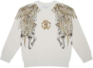 Roberto Cavalli Feather Logo Sweatshirt