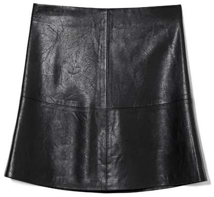 A-line Leather Skirt - ShopStyle Australia