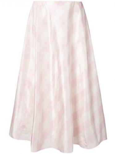 ValentinoValentino Checked silk-taffeta A-line midi skirt