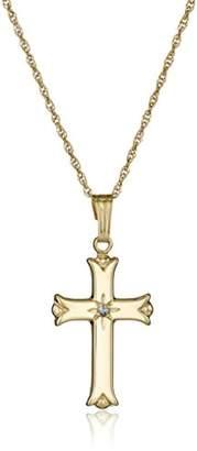 Men's 14k Solid Polished Cross Pendant Necklace