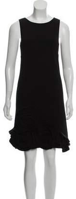 RED Valentino Sleeveless Virgin Wool Mini Dress