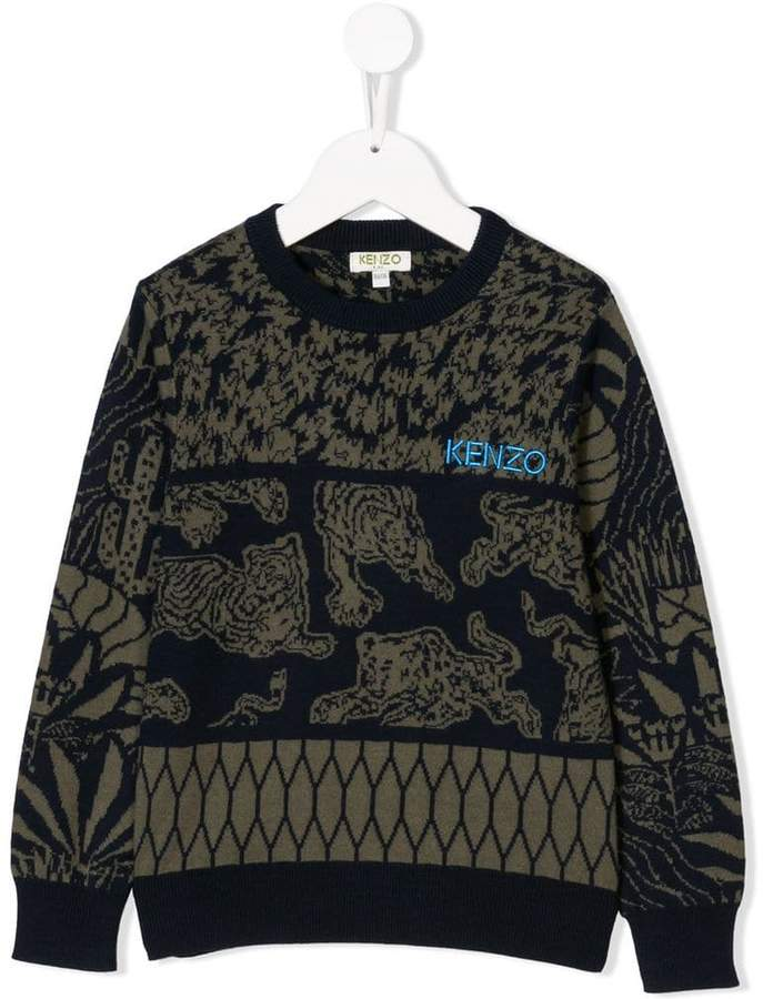 Kenzo Kids tapestry design sweater