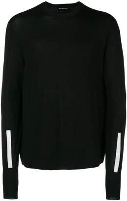 Neil Barrett contrast stripe jumper