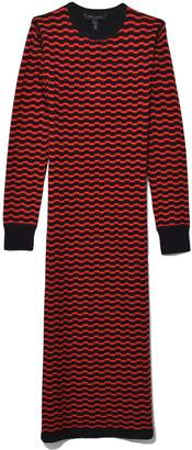 Marc Jacobs Long Sleeve Thermal Dress in Black/Red