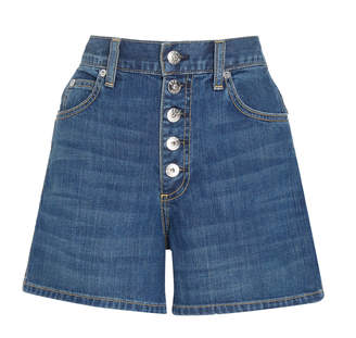 Eve Denim Leo High-Rise Denim Shorts