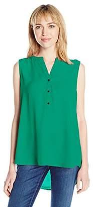 Adrianna Papell Women's Solid Sleeveless Equipment Shirt