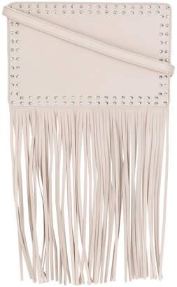 Twin-Set studded fringed shoulder bag