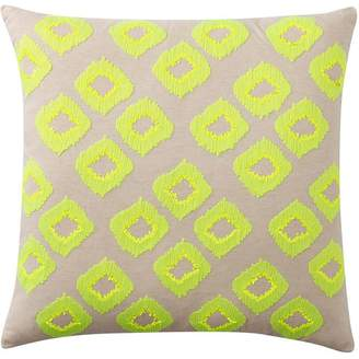 Pottery Barn Teen Diamond Sequin Euro Pillow Cover, Lime