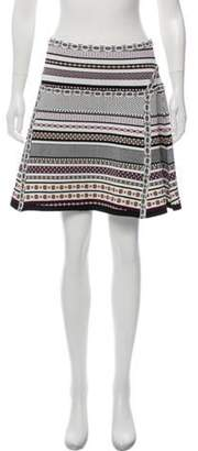Diane von Furstenberg Flote Mini Skirt Purple Flote Mini Skirt