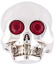 Moschino Moschino gem eye skull ring