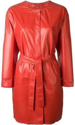 Sylvie Schimmel belted leather coat