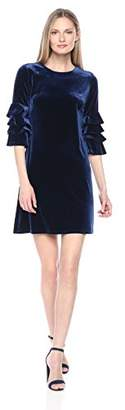 Julian Taylor Women's Cha Sleeve Velvet Dress