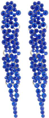 Kenneth Jay Lane Glass crystal cluster drop earrings