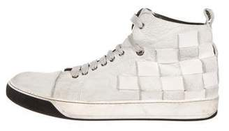 Lanvin Woven Leather Sneakers