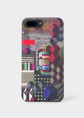 Paul Smith 'Geometric Mini' Print Textured Leather iPhone 7 Plus Case