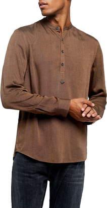 Topman Overhead Band Collar Popover Shirt