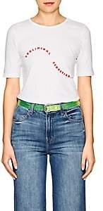 """Monogram Women's """"Subliminal Seduction."""" Cotton T-Shirt-White"""