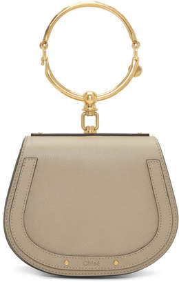 Chloé Grey Small Nile Bracelet Bag