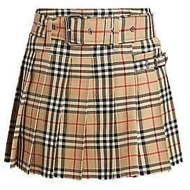 Burberry Women's Carmen Check Mini Kilt