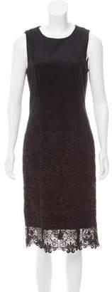 Zac Posen Lace-Paneled Midi Dress