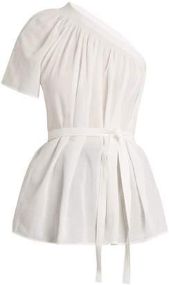 HELMUT LANG One-shoulder cotton-gauze top $390 thestylecure.com