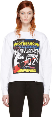Dsquared2 White Printed Pullover $390 thestylecure.com