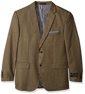 Alexander Julian Colours Men's Big and Tall Big & Tall Single Breasted Modern Fit Check Sportcoat