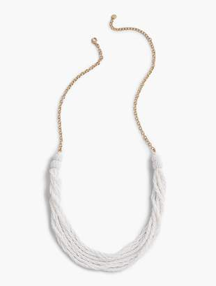 Talbots Twisted Beads Long Necklace