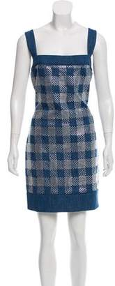 Balmain Embellished Denim Dress