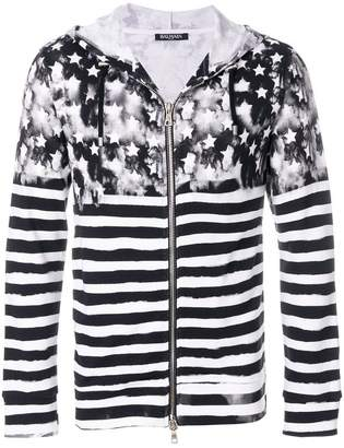 Balmain Stars and Stripes print hoodie