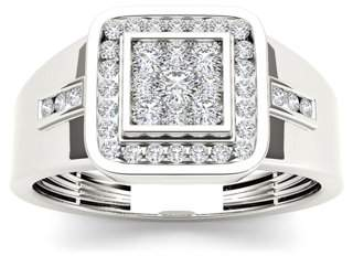 Imperial Star Men's 1/2 Carat T.W. Diamond 10kt White Gold Engagement Ring