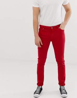 Asos Design DESIGN skinny jeans in red