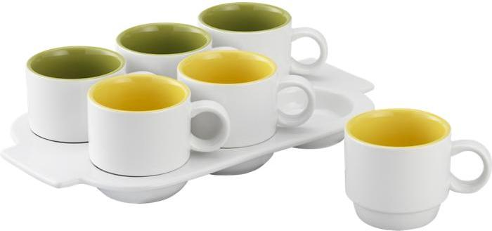 Crate & Barrel Pick Me Up Mugs with Tray