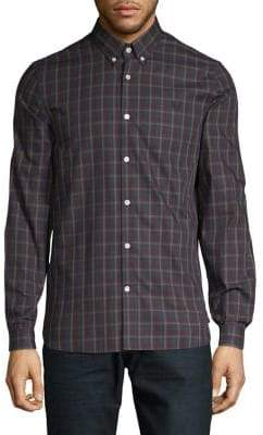 Fred Perry Checked Cotton Button-Down Shirt