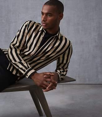 Reiss Kase Striped Long Sleeved Shirt