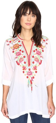 Johnny Was Blossom Blouse $248 thestylecure.com