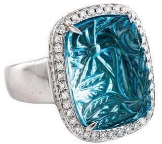 Rina Limor Fine Jewelry 18K Topaz & Diamond Cocktail Ring