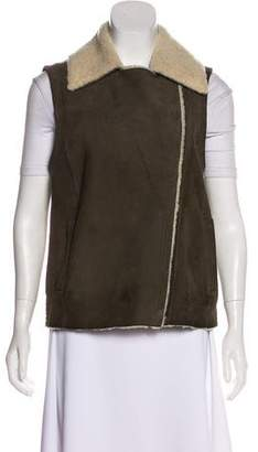 Vince Shearling Sleeveless Vest