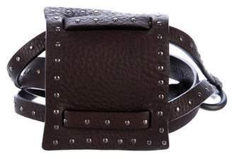 Fendi Studded Leather Belt