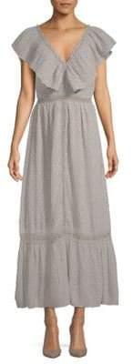 J.o.a. Ruffled Lace-Trim Dress