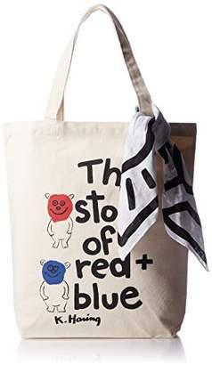Keith Haring [キース へリング] 【 キースヘリング】Story of Red and Blue バンダナ付きトートバッグ バンダナ付き KHBKH1710 WHITE WHITE