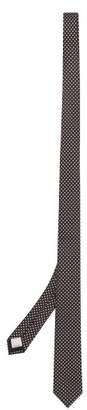 Valentino Star Jacquard Silk Twill Tie - Mens - Black