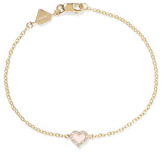 Alison Lou 14-karat Gold, Diamond And Enamel Bracelet
