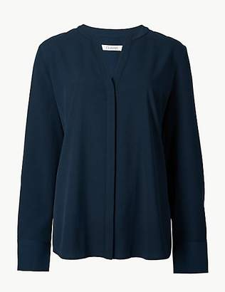 M&S Collection V-Neck Long Sleeve Blouse