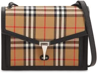 91c5e0a0c08a Burberry Small Macken Checked Leather Bag