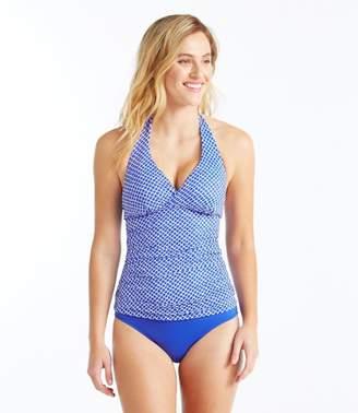 L.L. Bean L.L.Bean Mix-and-Match Swimwear, Halter Tankini Print