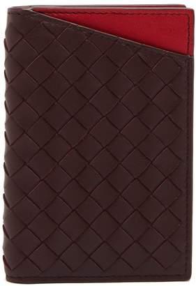Bottega Veneta Intrecciato bi-fold leather card holder