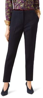 Hobbs London Celia Velvet-Trim Tapered Pants - 100% Exclusive