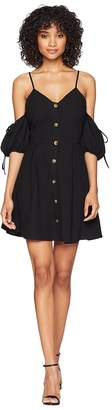 J.o.a. Cold Shoulder Button Up Dress Women's Dress