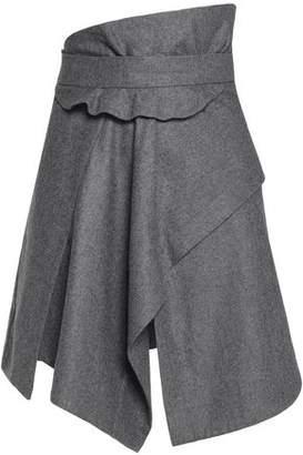 Carven Asymmetric Wool Mini Skirt